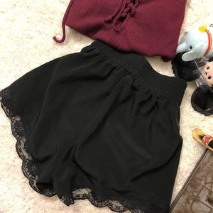 Adorable Black Ruffle Laced Bottoms